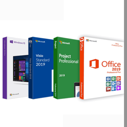 COMBO 2:  Windows 10 Pro Office 2019 Pro Plus Visio 2019 Pro  Project 2019 Pro